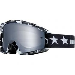 Masque FOX vtt Main Stripe noir décor blanc étoiles