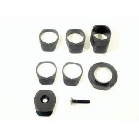 Entretoises de direction SYNCROS nylon 1.5 MTB Profilées 1P1/8 noires
