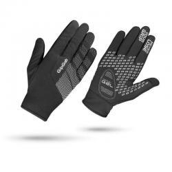 Gants longs GRIP GRAB hiver Ride Windproof noir décor gris