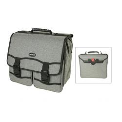 Sacoche HABERLAND arrière simple Office Grey Deluxe 20 grise sur porte-bagage