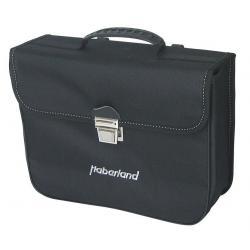 Sacoche HABERLAND arrière simple Grande 14 noir sur porte-bagage
