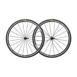 Roues à pneu 700 MAVIC route Aksium Elite UST Black 25 noire décor blanc