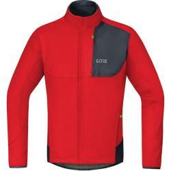 Veste thermique GORE hiver C5 Trail Windstopper Thermo rouge décor noir