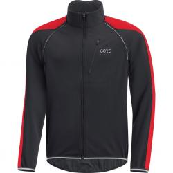 Veste coupe-vent GORE C3 Phantom Windstopper noir décor rouge