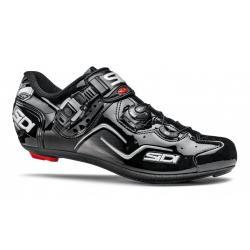 Chaussures SIDI route Kaos noir verni décor argent