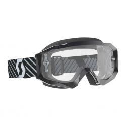 Masque SCOTT vtt et bmx Hustle X MX noir verni décor blanc