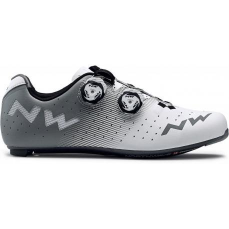 Chaussures NORTHWAVE route Revolution blanc décor gris