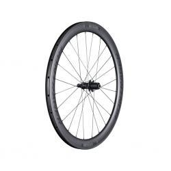 Roue à pneu 700 arrière BONTRAGER route Aéolus Pro 5 TLR 50 5x130 SH11v noire carbon décor noir