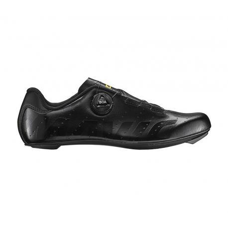 Chaussures MAVIC route Cosmic Boa noir mat décor verni