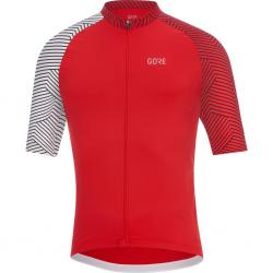 Maillot manches courtes GORE C5 rouge décor blanc
