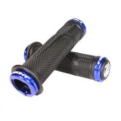 Poignées de guidon INSIGHT bmx caoutchouc C.O.G.S 30x130 noir lock-on bleu
