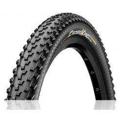 Pneu 27.5p CONTINENTAL vtt CrossKing Performance 27.5 PureGrip Tubeless Ready noir flancs noirs