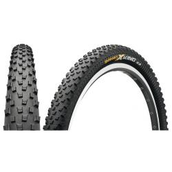 Pneu 26p CONTINENTAL vtt X-King Protection 26 Tubeless Ready noir flancs noirs